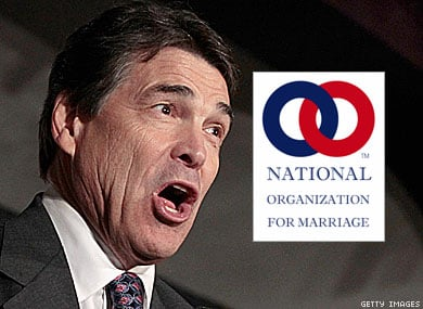 NOM Cheers as Rick Perry Signs Antigay Pledge