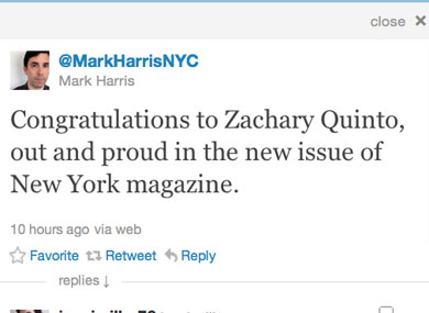 Has Zachary Quinto Come Out As Gay?