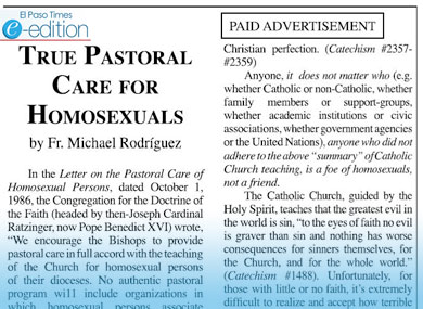 Ad in  Gays Are Putrid