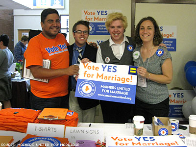 Maine Marriage Equality Coalition Outpaces Opponents in Fund-raising