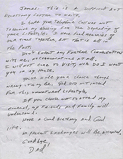 Shocking Letter From Father Disowning Gay Son Goes Viral