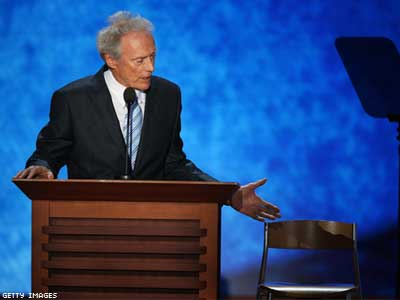 Eastwood Mocks Obama in RNC Speech to Empty Chair
