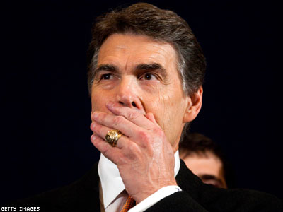 Rick Perry Doth Protest How Much?