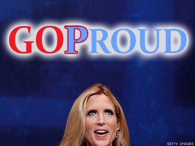 GOProud Cofounder Defends Ann Coulter Tweet on Coming Out Day