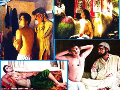 Paintings With Muslim Clerics in Gay Settings Cause Uproar in Pakistan