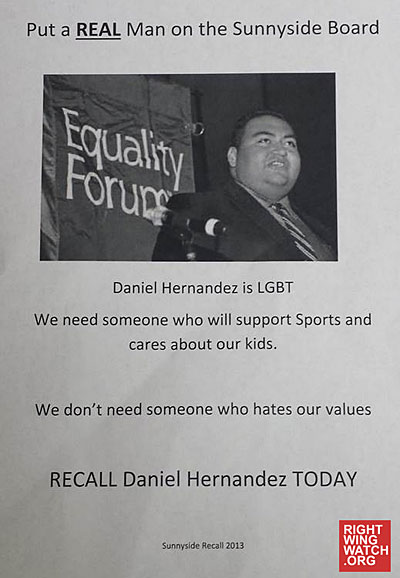 Gay Intern Who Saved Rep. Giffords Targeted With Antigay Fliers in Recall Election