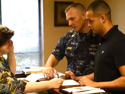 WATCH: Gay Military Couple Lauds New Spousal Benefits in Pentagon Video