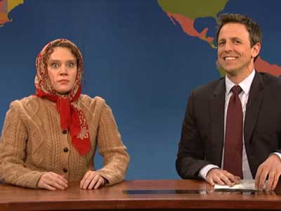 WATCH: Kate McKinnon's Russian Villager Is Surprised Anyone Comes to Russia