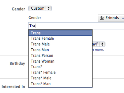 Facebook Expands Gender Options for Trans and Gender-Nonconforming Users