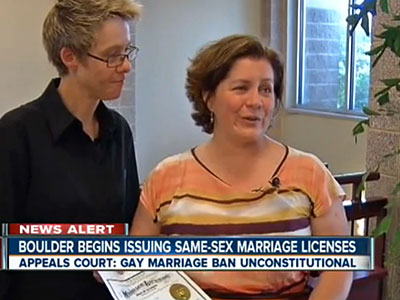 WATCH: Same-Sex Couples Married in Boulder, Colo.