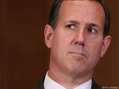 LISTEN: Santorum Frothing Mad That LGBT Activists Have 'Silenced the Church'