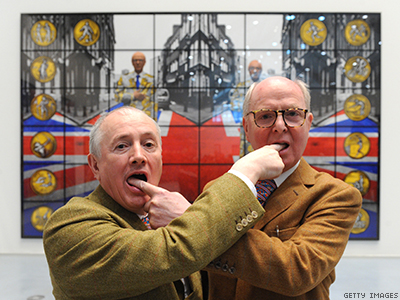 In the Galleries: Gilbert & George Whippet Good