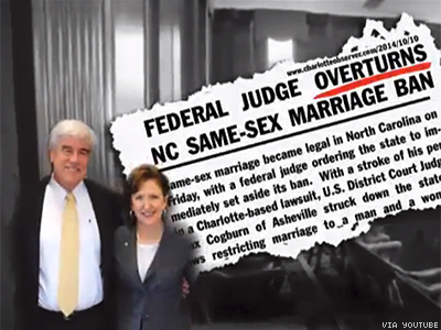 WATCH: NOM Ad Says N.C. Marriage Equality Is All Sen. Kay Hagan's Fault