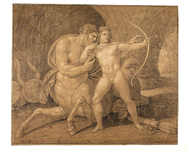 Bertel Thorvaldsen Chiron Teaching Achilles To Shoot With The Bow 1811x633 0