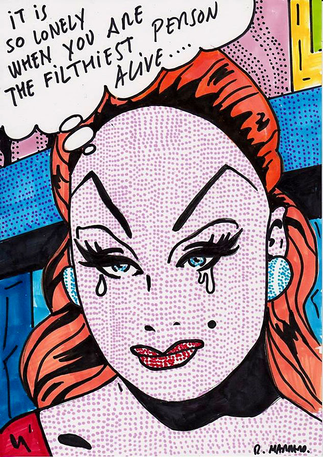 Divine Meets Roy Lichtenstein Number Twox633 0