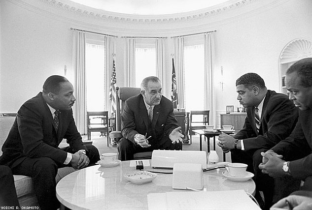 Lyndon Johnson Meeting With Civil Rights LeadersX633 0