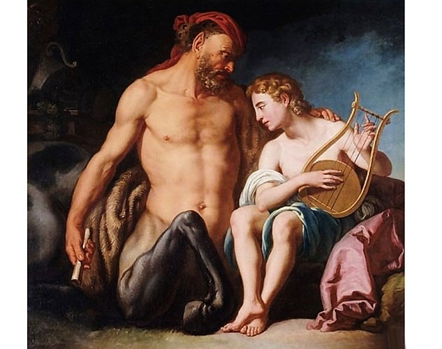 The Education Of Achilles By Chiron. 18th.century. The Italian Schoolx633 0