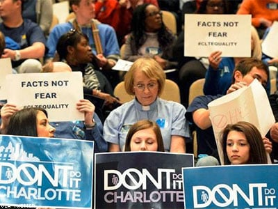 Angry Activists Confront Trans Teen in Charlotte Bathroom, As Nondiscrimination Ordinance Fails