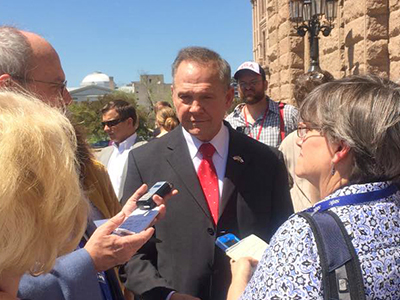 WATCH: Alabama's Roy Moore Takes a Stand Against Equality — in Texas