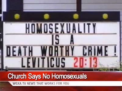 WATCH: Being Gay Is 'Death Worthy,' According to Georgia Church Sign