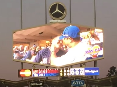 WATCH: Dodger Stadium Reacts to Same-Sex Couple on Kiss Cam