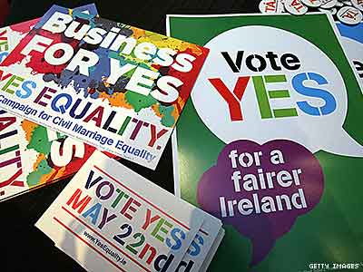 Polls Show Ireland Still Likely to Vote Yes on Marriage