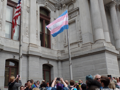 Philadelphia Raises the Transgender Pride Flag for the First Time