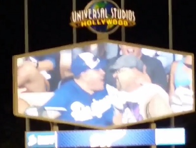 WATCH: L.A. Crowd React to Gay Kisses at Dodgers LGBT Night
