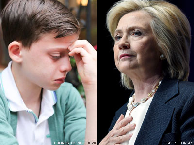 Hillary Clinton's Kind Words to Gay Kid 'Afraid' for His Future
