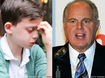 WATCH: Rush Limbaugh Declares Distraught Gay Child Is a Fraud