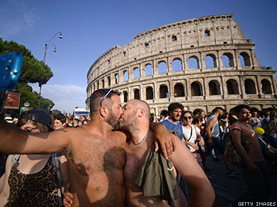 European Court Rules Italy's Same-Sex Marriage Ban a Human Rights Violation