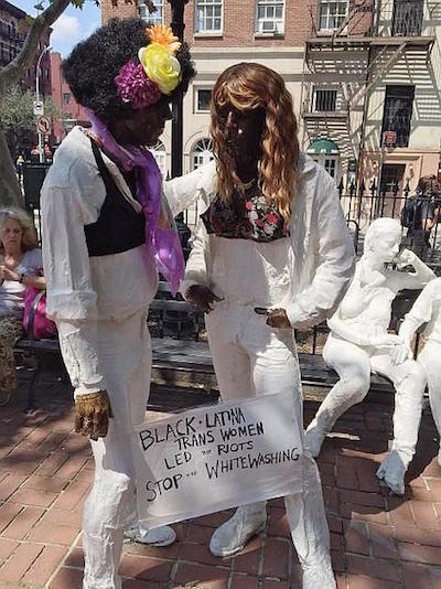 Vandals Paint Stonewall Statues to Protest 'Whitewashing'