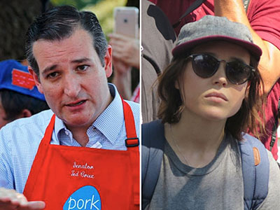 Ellen Page Faces Off With Antigay Ted Cruz About LGBT Rights at Iowa State Fair