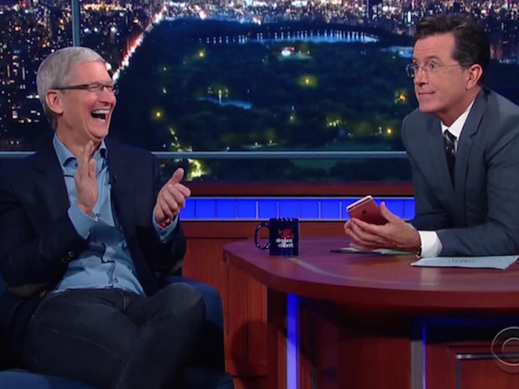 Tim Cook on The Late Show with Stephen Colbert