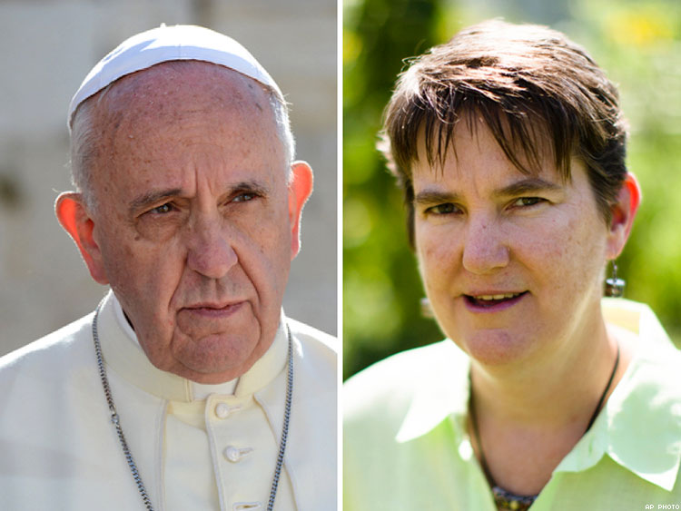 Pope Francis and Margie Winters