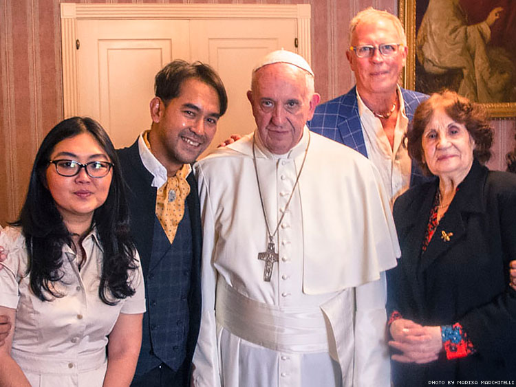 Yayo Grassi and Pope Francis