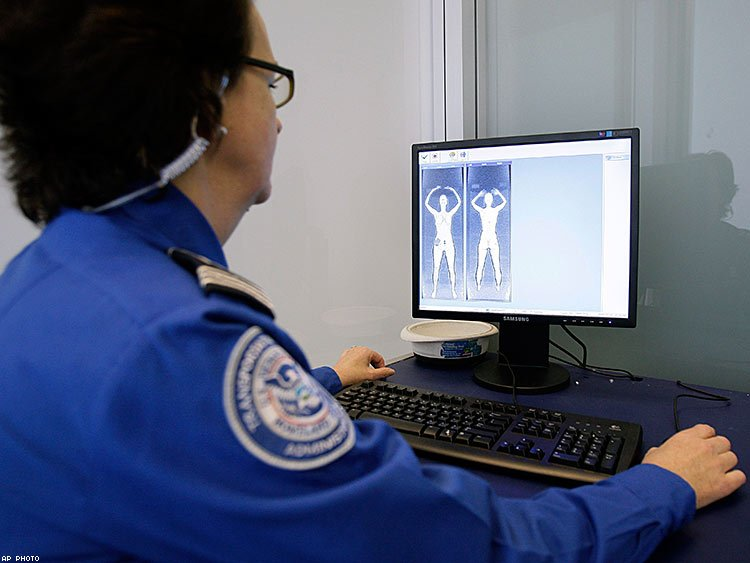 TSA full-body imaging scanner results