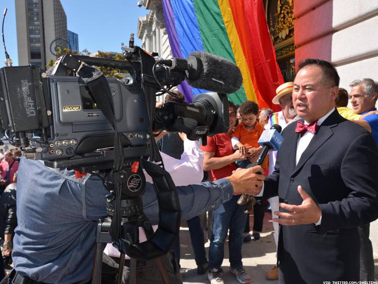 California Assemblyman Phil Ting celebrates nationwide marriage equality