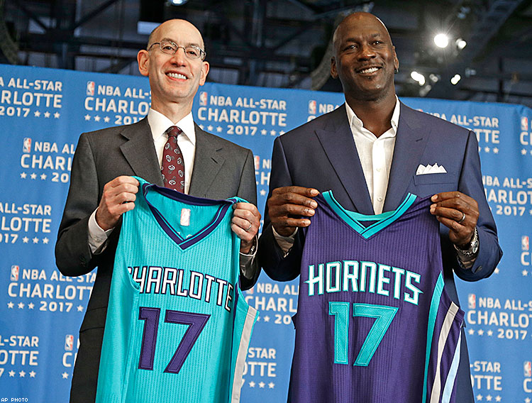 Adam Silver and Michael Jordan