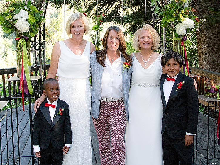 Jackie Biskupski married her partner Betty Iverson at an intimate ceremony