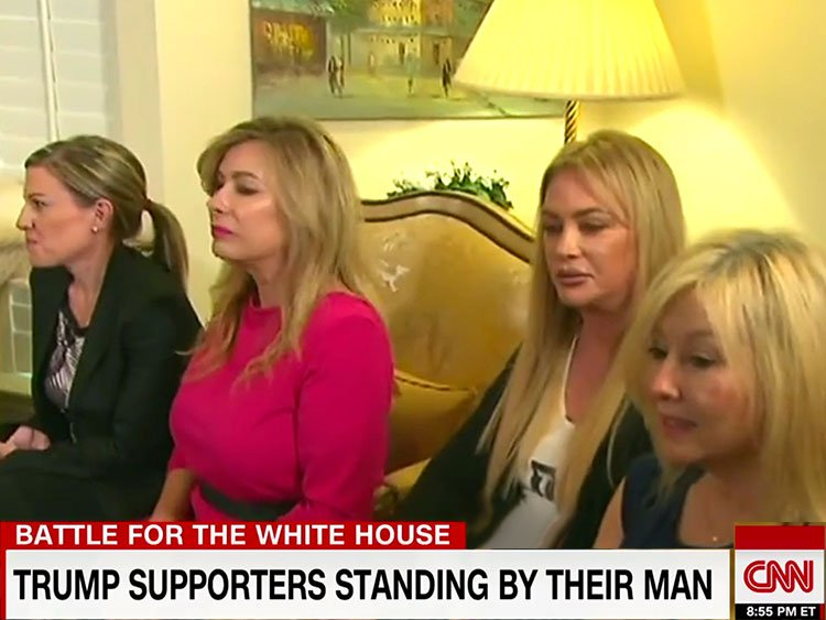 female Trump supporters explain why they're standing by their man
