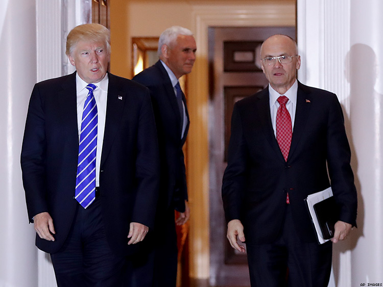 Andy Puzder with Trump