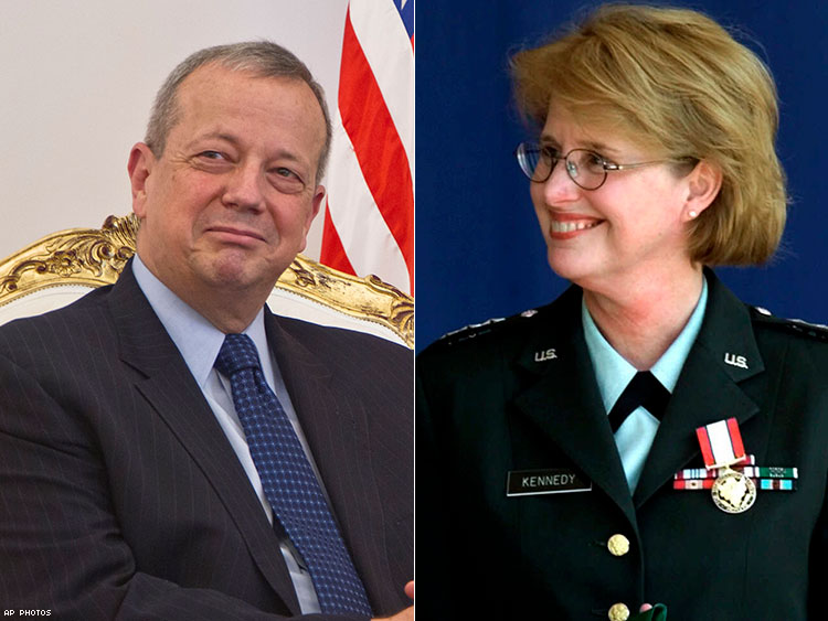 Retired Generals John Allen and Claudia Kennedy