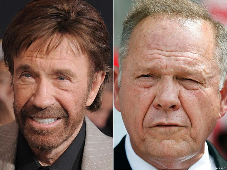 Chuck Norris and Roy Moore