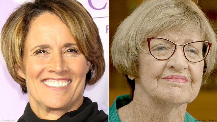 Mary Carillo and Margaret Court
