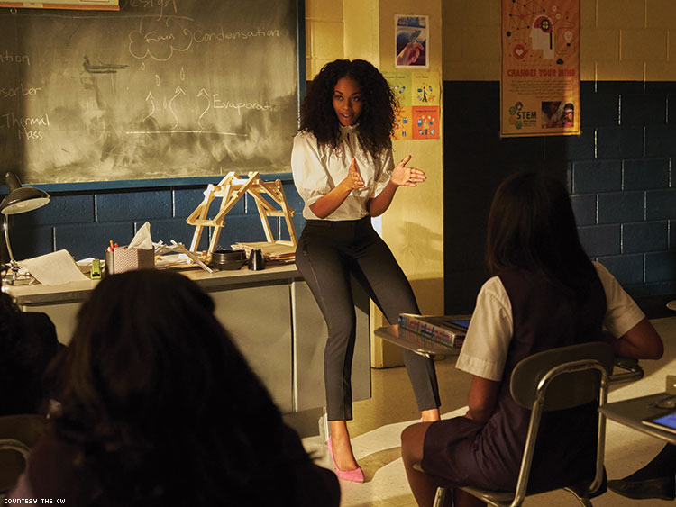 Nafessa Williams On Black Lightning Courtesy The Cw