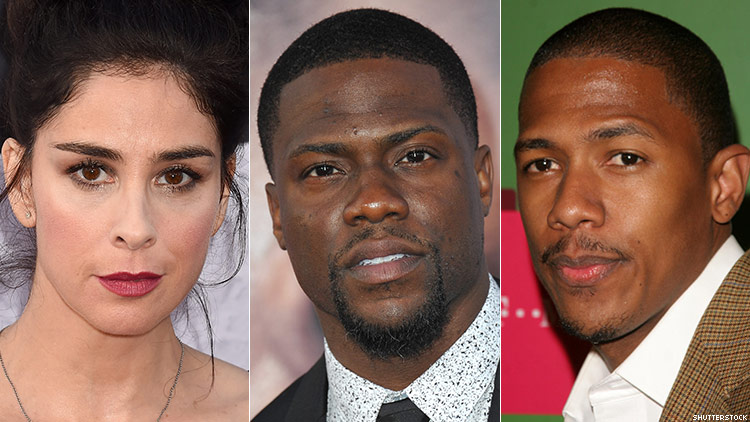 Sarah Silverman and Kevin Hart and Nick Cannon