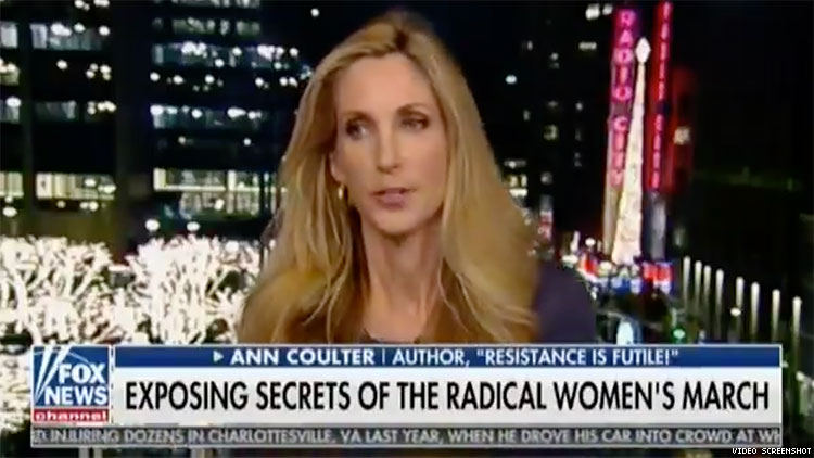 Ann Coulter Slams 'Exotic Sexual Groups and College Queers' in New Low