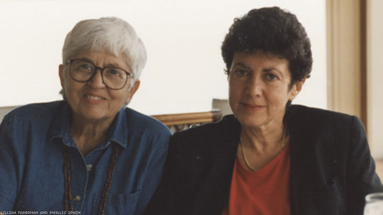 Lillian Faderman and Phyllis Irwin