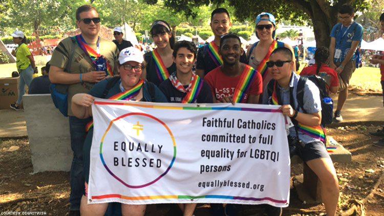 Pilgrims for LGBTQI Equality at the Vatican's World Youth Day in Panam